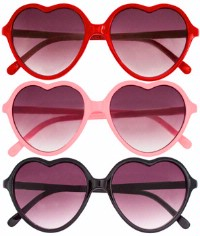 Yes, I did wear these to school on Valentines Day, but how can you not? They are the cutest sunglasses around and when I found them i was obsessed! I picture them being perfect for a day at a carnival or an amusement park - not that I have tried this, but I think it would be adorable.